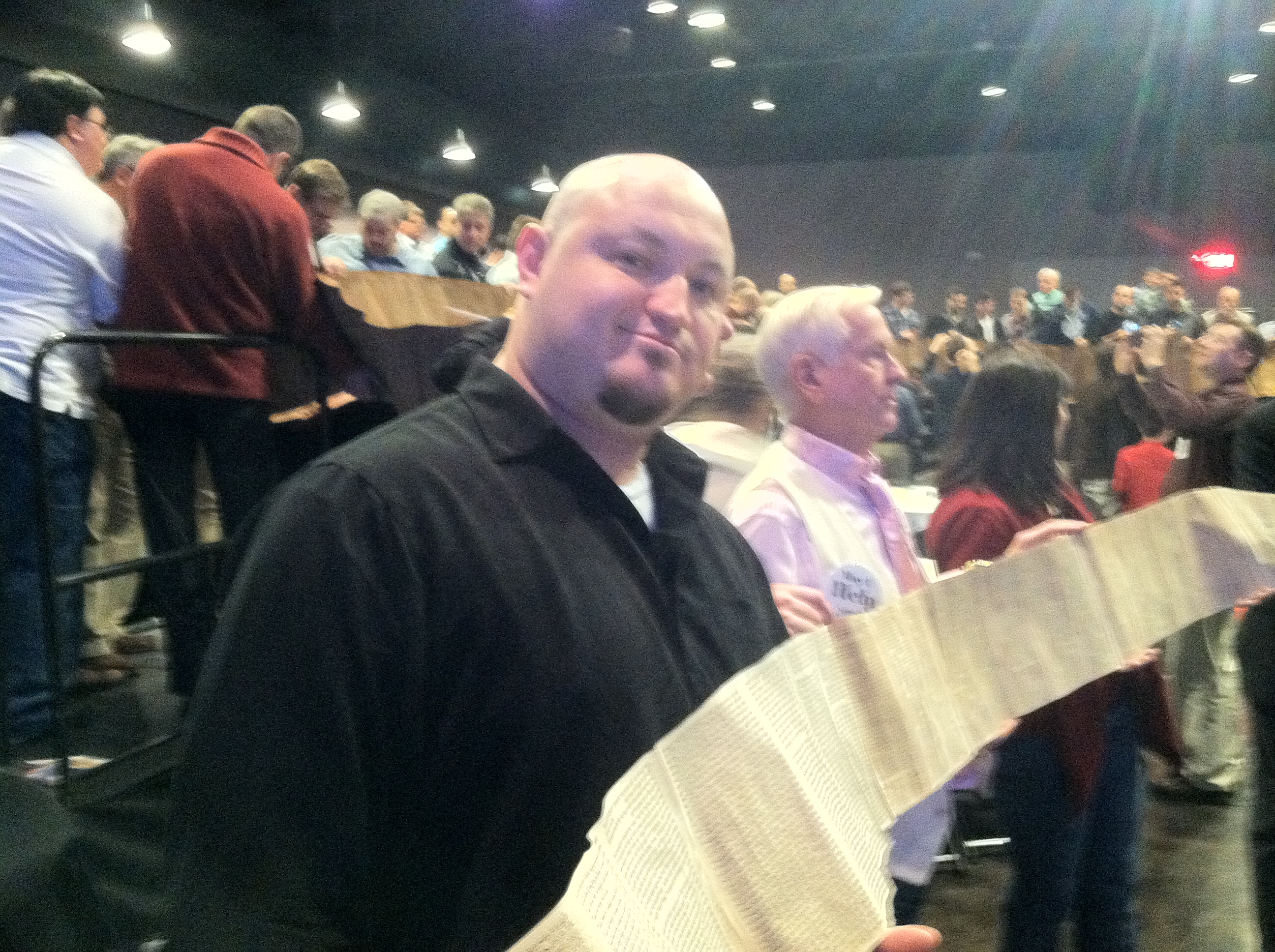 Holding Tora Scroll